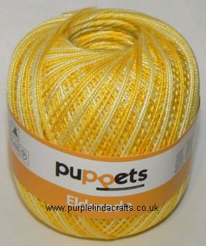 Puppets Eldorado Multicolour Crochet Cotton Tkt No.12 Lemon 14