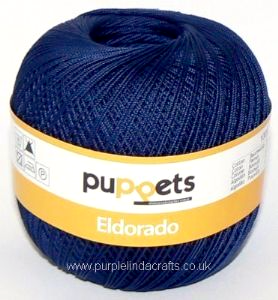 Puppets Eldorado No.16 Crochet Cotton 4289 Navy 50g