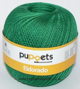 Puppets Eldorado No.16 Crochet Cotton 7228 Emerald Green 50g
