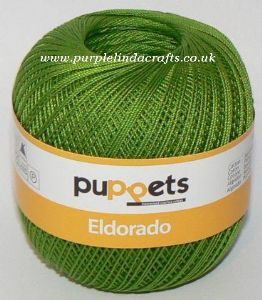 Puppets Eldorado No.16 Crochet Cotton 8255 Apple Green 50g