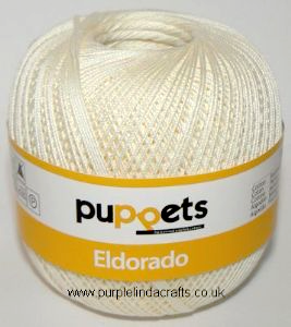 Puppets Eldorado No.16 Crochet Cotton 8926 Cream 50g