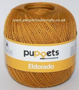 Puppets Eldorado No.16 Crochet Cotton 9532 Gold 50g