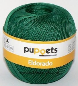 Puppets Eldorado No.6 Crochet Cotton 6332 Dark Green 50g