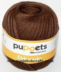 Puppets Eldorado No.6 Crochet Cotton 7359 Brown 50g