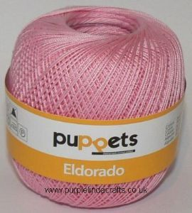 Puppets Eldorado No.6 Crochet Cotton 7511 Pink 50g