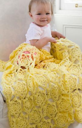 Red Heart ANNE GEDDES Sunshine Baby Blanket Crochet Pattern FREE