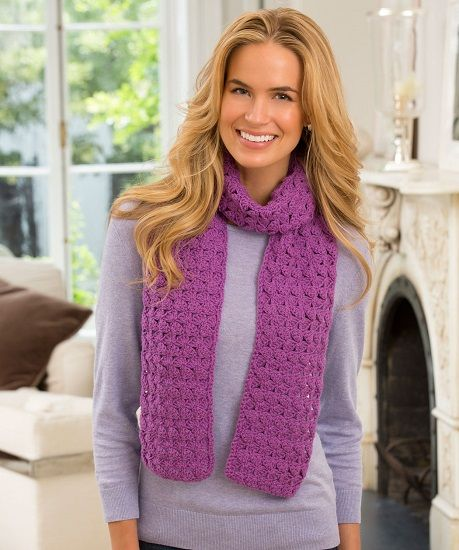 Red Heart Detroit Scarf Crochet Pattern Free