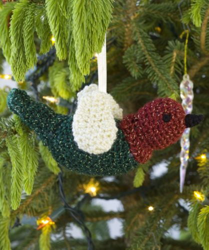 Red Heart HOLIDAY Chirper Ornament Crochet Pattern FREE
