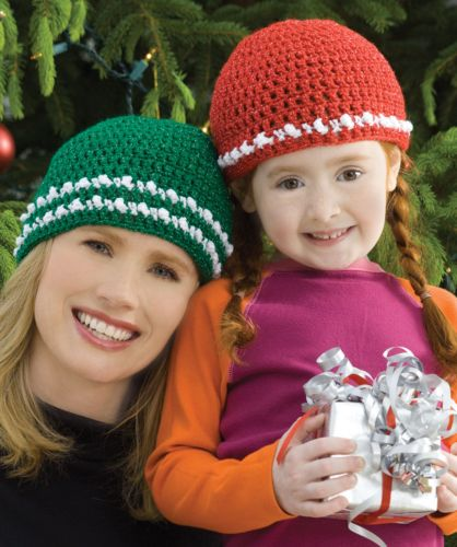 Red Heart HOLIDAY Fa la la Caps Crochet Pattern FREE