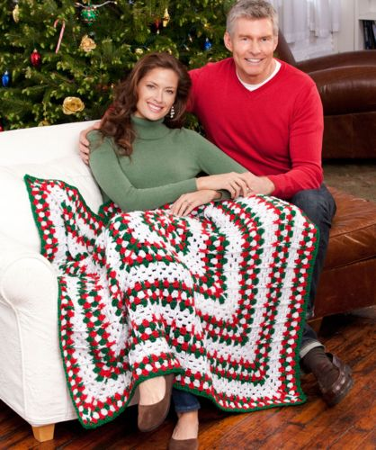 Red Heart HOLIDAY Throw Crochet Pattern FREE