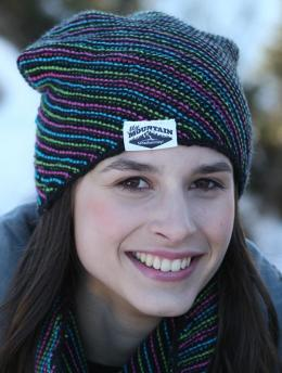 Regia Active Diagonal striped ladies hat Knitting Pattern FREE