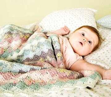 Rico Baby Cotton Soft DK Crochet Blanket Pattern 534