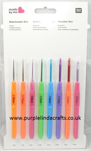Rico Crochet Hook Set 15mm To 45mm