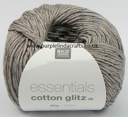 Rico Essentials Cotton GLITZ DK 011 Light Grey REDUCED