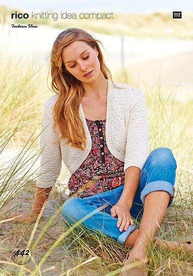 Rico Fashion Flow Cardigan and Shawl Knitting Pattern 442