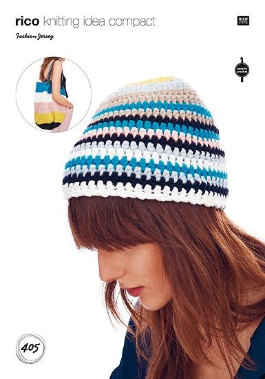 Rico Fashion JERSEY Hat and Bag Crochet Pattern 405