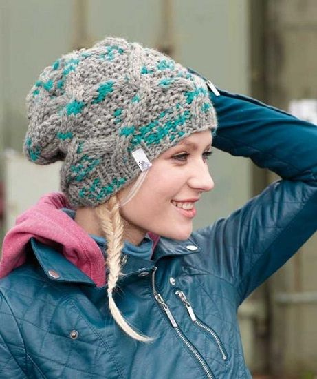 Schachenmayr LOVA Traveling Cable Hat FREE Knitting Pattern