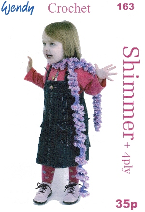 Shimmer Whirl Scarf Crochet Pattern 163