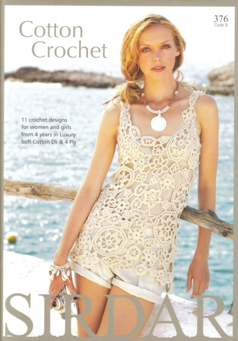 Sirdar Cotton Crochet Pattern Book 376 Last Copy