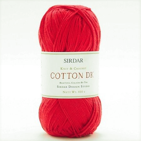 Sirdar Cotton DK Yarn 510 Galore Red DISCONTINUED