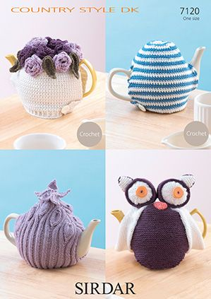 Sirdar DK Knit and Crochet Teacosies Owl Pattern 7120
