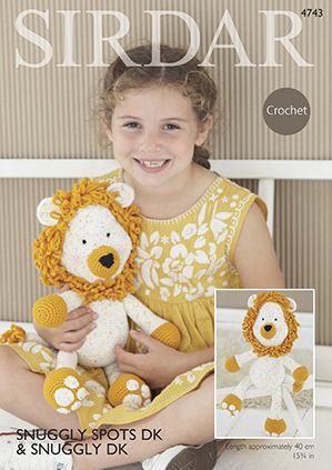 Sirdar DK Logan the Lion Toy Crochet Pattern 4743