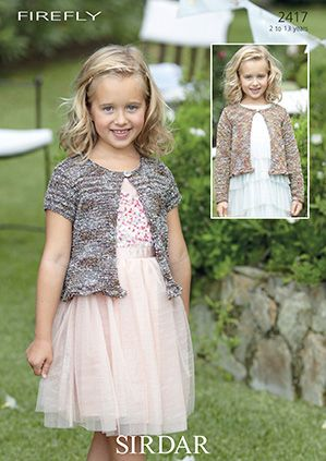 Sirdar Firefly Girls Cardigans Free Knitting Pattern 2417 Discontinued