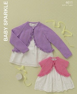 Sirdar Hayfield Baby Sparkle DK Knitting Patterns
