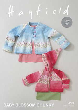 Sirdar Hayfield BLOSSOM Chunky Coats Baby Knitting Pattern 4678