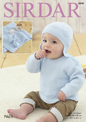 Sirdar No.1 Baby Blue Set Knitting Pattern 4848