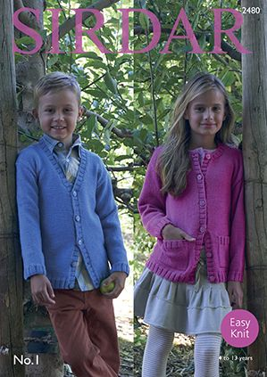 Sirdar No.1 Childs Cardigans Knitting Pattern 2480