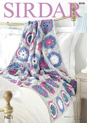 Sirdar No1 Blanket Crochet Pattern 8048
