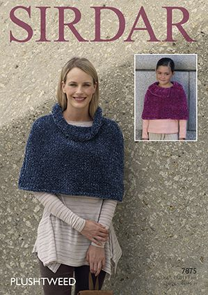 Sirdar Plushtweed Capes Knitting Pattern 7875 REDUCED £1
