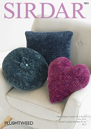 Sirdar Plushtweed Cushions Knitting Pattern 7893 REDUCED £1