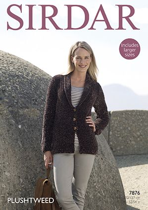 Sirdar Plushtweed Jacket Knitting Pattern 7876 REDUCED £1