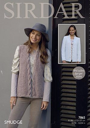 Sirdar SMUDGE Waistcoat and Jacket Knitting Pattern 7865