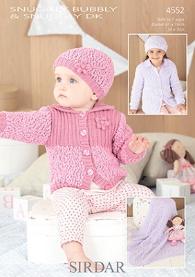 Sirdar Snuggly BUBBLY Knitting Patterns
