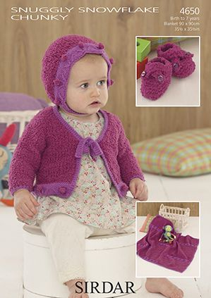 Sirdar Snuggly Snowflake Chunky Knitting Patterns
