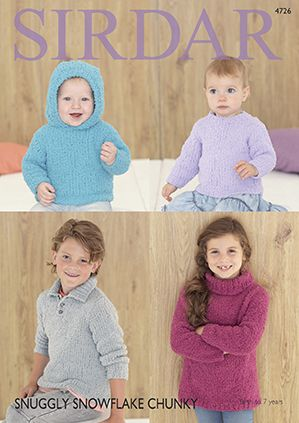 Sirdar Snuggly Snowflake Chunky Sweaters Knitting Pattern 4726