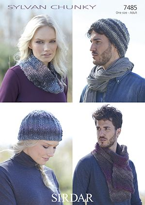 Sirdar Sylvan Hats Scarf Snood Knitting Pattern 7485 REDUCED £1