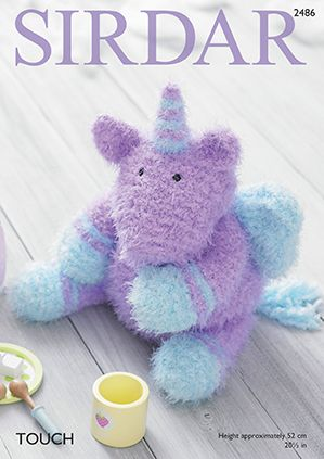 Sirdar TOUCH Toy Unicorn Knitting Pattern 2486