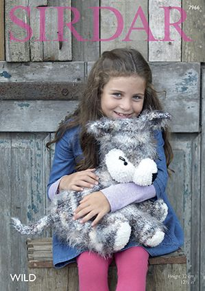 Sirdar Wild Husky Toy Knitting Pattern 7966 REDUCED £1