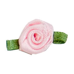 Small Ribbon Roses With Green Leaves 117 Pale Pink