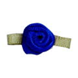 Small Ribbon Roses With Green Leaves 350 ROYAL BLUE