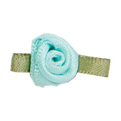 Small Ribbon Roses With Green Leaves 513 MINT