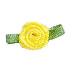 Small Ribbon Roses With Green Leaves 640 LEMON