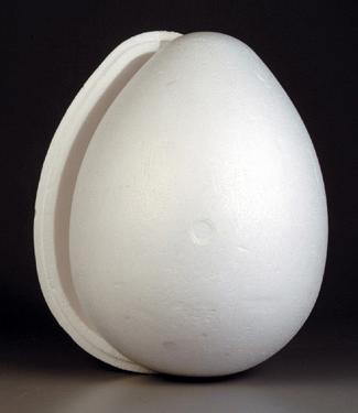 Styrofoam Egg 2-part White 20cm Polystyrene