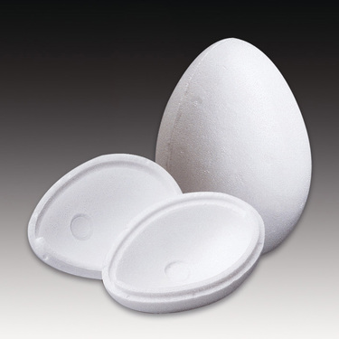 21cm Styrofoam Egg 2 Part White Purplelinda Crafts