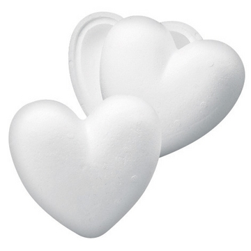 Styrofoam HEART 2-part White 15cm
