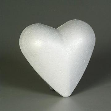 Styrofoam Heart Solid White 9cm